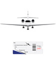 Airplane and ticket vector image
