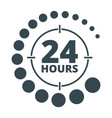 24 hours around black vector image