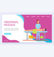 abdominal massage masseuse with client website vector image vector image