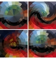 Abstract set mosaic backgrounds vector image