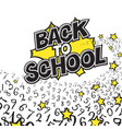 back to school black and yellow comic retro vector image vector image
