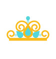 beauty pageant crown jewelry related icon flat vector image vector image