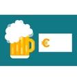 Beer bottle price blank vector image vector image