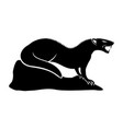black mongoose sign vector image vector image