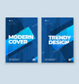 blue brochure design a4 cover template for vector image