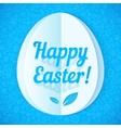 Blue paper Easter egg vector image
