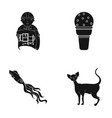 Care design cafe and other web icon in black vector image