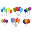 colour helium balloons vector image vector image