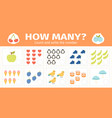 counting math kids game mathematical numbers vector image
