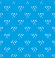 crossed battle axes pattern seamless blue vector image vector image