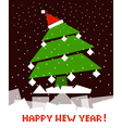 Cubic new year tree vector image vector image