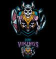 dead vikings mascot vector image vector image