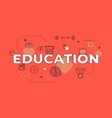education text concept modern flat style vector image