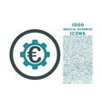 Euro Payment Options Rounded Icon with 1000 Bonus vector image vector image