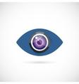 Eye Lens Abstract Concept Symbol Icon or Logo vector image vector image