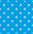 figure star pattern seamless blue vector image vector image