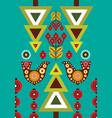 folk card in scandinavian style vector image