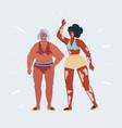 friendship beauty body vector image vector image