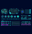 futuristic hologram ui infographic graph vector image vector image