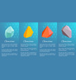 gemstones collection poster on vector image vector image