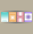 geometric halftone cover set vector image