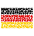 german flag collage of stop hand icons vector image vector image