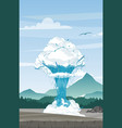geyser on mountains vector image vector image
