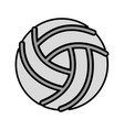 grey volley ball cartoon vector image