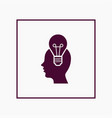 human with bulb icon simple idea sign vector image vector image