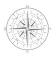 icon with compass rose vector image vector image