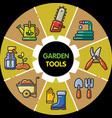 infographic set of garden tools vector image vector image