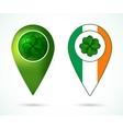 Ireland location mark vector image