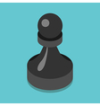 Isometric black pawn vector image vector image