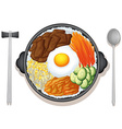 Korean food vector image vector image