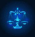 libra zodiac sign blue star horoscope symbol vector image vector image