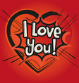 Love Comic Speech Bubble vector image vector image