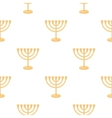 Menorah icon in cartoon style isolated on white vector image