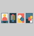 modern bauhaus design set background vector image