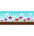 Mushrooms Game Background vector image vector image