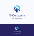 n company logo vector image vector image