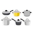 pans pots and saucepans vector image