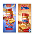 peanut butter vertical banners vector image