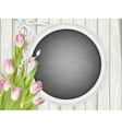 Picture frame with chalkboard EPS 10 vector image