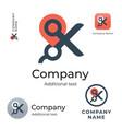 scissors and maps mark logo modern identity brand vector image