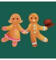 set christmas cookies gingerbread man and girl vector image vector image