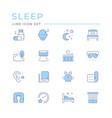 set color line icons sleep vector image vector image