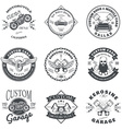set custom car and bike garage label and badge vector image