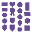 set of violet stickers labels icons and banners vector image