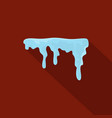 snowdrift icon flat style vector image vector image