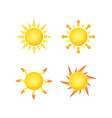 sun isolated summer icon design yellow sun vector image vector image